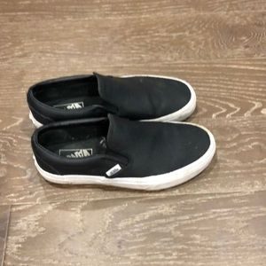 Vans perforated leather slip on sneakers